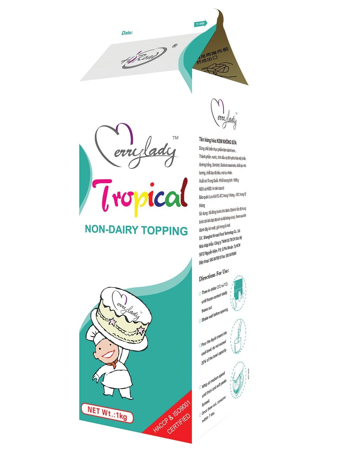 Topping cream Tropical chuyên dùng để trang trí bánh kem